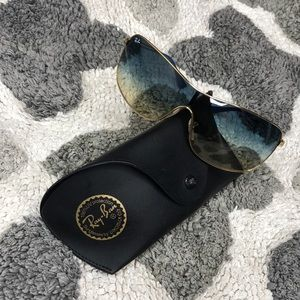 Ray-Ban Like NEW! RB3466 Gold Blue Fade Sunglasses